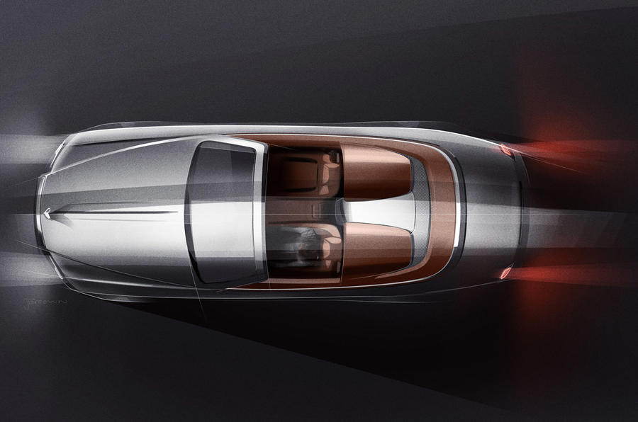 Rolls-Royce fremviser to-sædet Dawn-variant